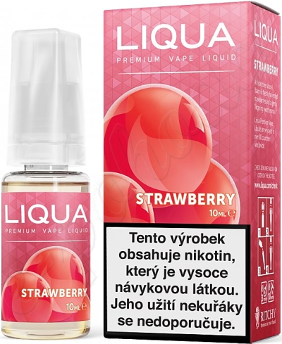 výprodej liquid LIQUA Elements Strawberry 10ml-6mg