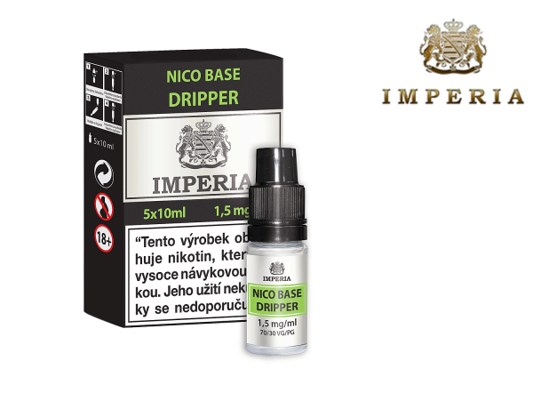 IMPERIA NICO BASE DRIPPER (30PG/70VG) 1,5mg/ml 5x10ml