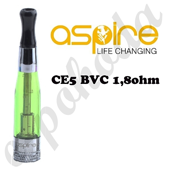 Clearomizer Aspire CE5 BVC 1,6ml - zelený