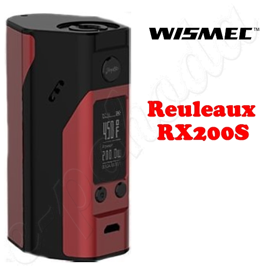 Wismec Reuleaux RX200S TC Power Box Mod - Black-Red