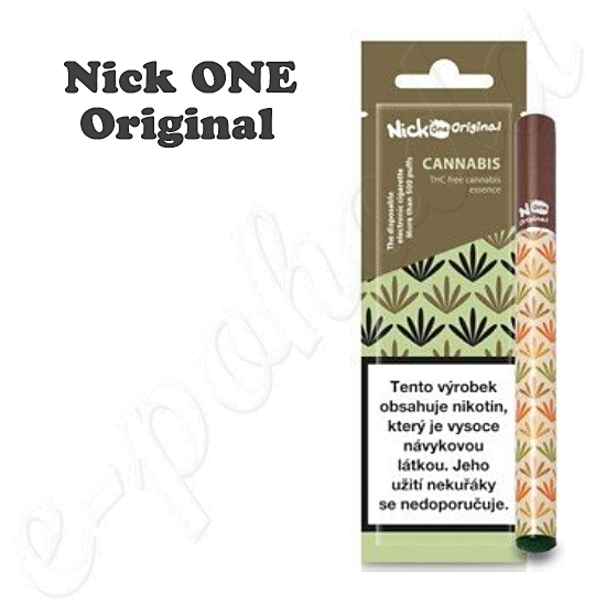 Jednorázová e-cigareta Nick ONE Original Cannabis 16mg