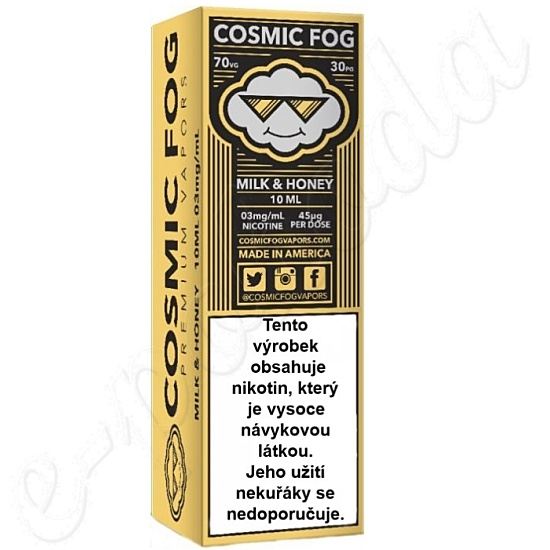liquid COSMIC FOG - Milk and Honey 10ml-3mg