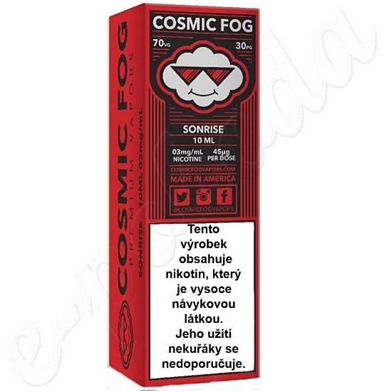 liquid COSMIC FOG - Sonrise 10ml-3mg