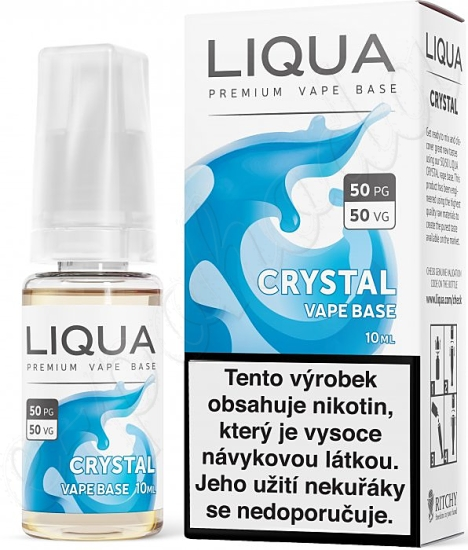 LIQUA Crystal Vape Base 10ml-18mg