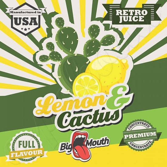 Aroma Big Mouth RETRO - Lemon and Cactus