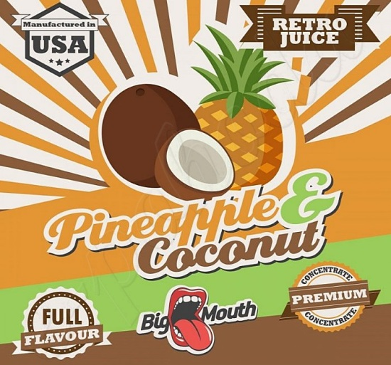 Aroma Big Mouth RETRO - Pineapple and Coconut