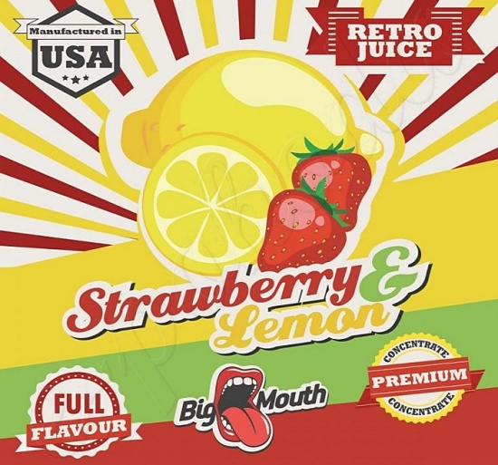 Aroma Big Mouth RETRO - Strawberry and Lemon