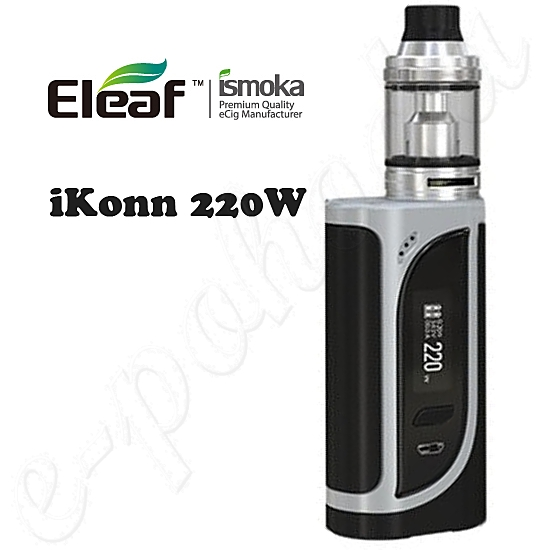 Eleaf iKonn TC 220W Full Kit Black-Silver