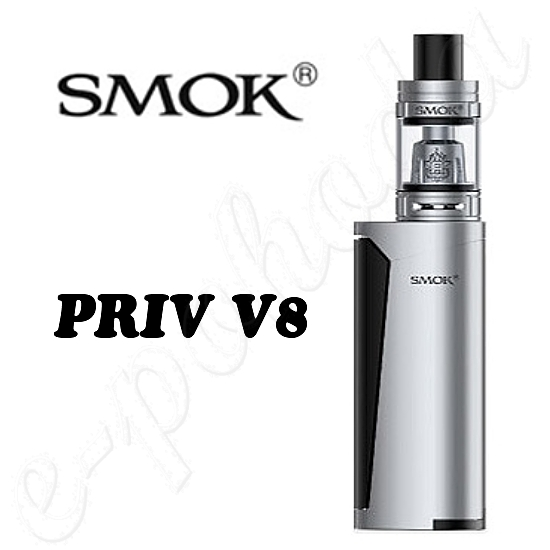 Smoktech Priv V8 60W Grip Full Kit - Silver-Black