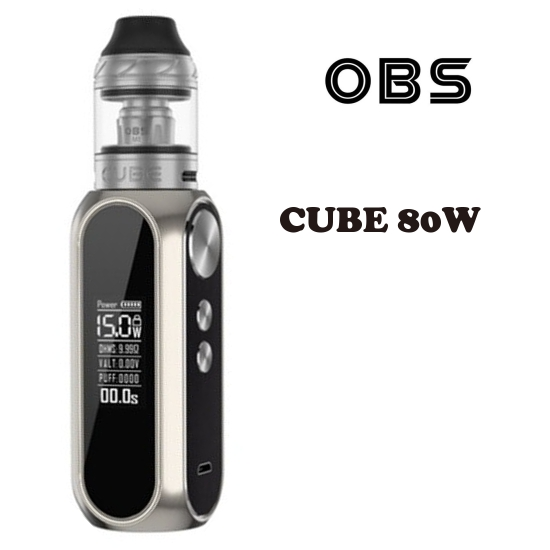 OBS Cube 80W Grip 3000mAh Full Kit - Chrome