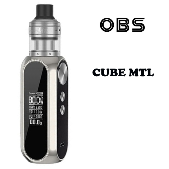 OBS Cube MTL 80W Grip 3000mAh Full Kit - Chrome